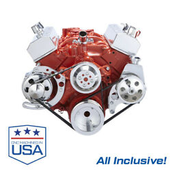Small Block Chevy Serpentine System All Inclusive 283 302 305 327 350 Sbc Kit