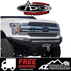 Add Stealth Fighter Front Winch Bumper Black For 2018-2019 Ford F150 Trucks