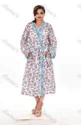 Gypsy Floral Intimates Cotton Sexy Beachwear Wraps Long Kimono Nightwear Maxi 99