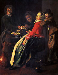 Judith Leyster A Game Of Cards Artiste Tableau Reproduction Sur Toile Peinture