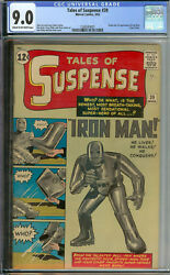 Tales of Suspense #39 CGC 9.0 VFNM Unrestored Marvel 1st Iron Man CROW Pages