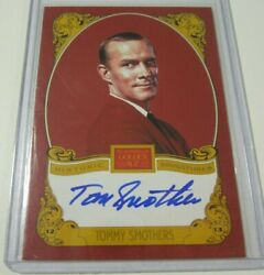 2013 Panini Golden Age Tommy Smothers Historic Signatures Auto Celebrity Card