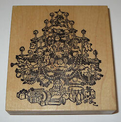 Christmas Tree Candles Toys Rubber Stamp Psx Doll Drum Santa Ball Books Euc Cat