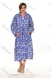 Indian Kimono Floral Printed Gypsy Cotton Women's Sleepwear Tunic Intimates 104