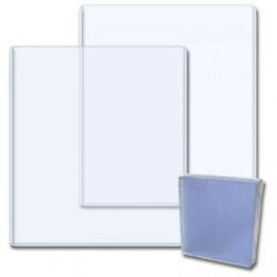 100 Magazine Beckett Price Guide 9x11.5x5mm Clear Plastic Storage Toploaders