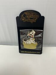 Disney Auctions Puppy In Basket Le 500 Pin 101 Dalmatians Lucky Rolly Patch