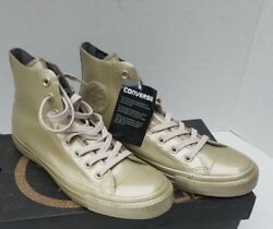 Converse All Star Counter Climate Water Repellent Metallic Gold High Top 10 41.5