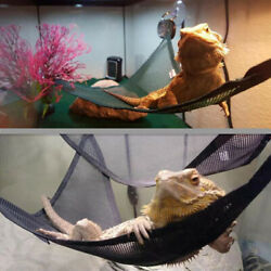 Breathable Mesh Reptile Hammock for Large amp; Small Bearded Dragons 2 Pack