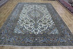 Antique Persian Kashan Carpet With Great Design And Superb Colours 13 X 10 Foot