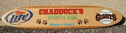 Surfboard Wall Art, Personalized Bar Sign, Bar And Grill Surfboard Decor