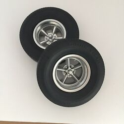 1:8 American 5 Spoke Rear and caps Revell Monogram for soft tires not Included $30.00