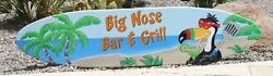 Surfboard Wall Art, Personalized Surfboard, Wood Surfboard, Bar And Grill Sign