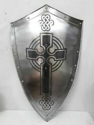 Collectible Hand Forged Steel Layered Medieval Shield SCA Battle Shield Armor