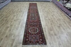Old North West Persian Karajeh Long Runner Very Hard Wearing 14and0394 X 2and0392 Foot