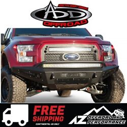 Add Honeybadger Front Bumper Black For 2015-2017 Ford F150 Ecoboost