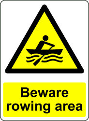 Warning Beware Rowing Area Osha Decal Safety Sign Sticker 3m Usa Made