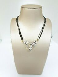 18carat Yellow Gold Diamond Mangalsutra Chain And Pendant 15and039and039 1.13 Carat F-vvs