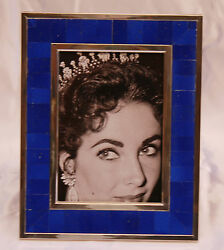 Magnificent Sterling Silver Lapis Picture Frame Gift Of Elizabeth Taylor