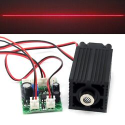Focusable 650nm 200mw Red Line Laser Module Locator 12v Driver Ttl Long-time