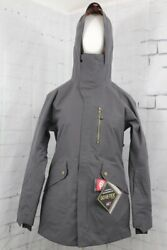 686 Glcr Goretex Moonlight Insulated Snow Jacket Womenand039s Small Charcoal New 2020