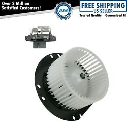 A/c Ac Heater Blower Motor W/ Fan Cage And Resistor Kit For Ford Mercury