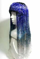 Pxck2n Colourful Fancy Wig Design For Drag Lgbtq Carnival Cabaret Entertainers