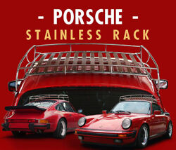 Porsche 911 Air Cooled Classic Vintage Wood Luggage Roof Rack