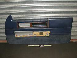 87 Cadillac Coupe Deville Fwd Right Pass Side Door Panel W/ Pull Handle And Bezel