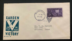 1945 Gardners Pa Usa Patriotic Cover To Abilene Tx In For Victory