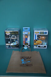 Sdcc 50 Year 2019 Exclusive Set Batman,toucan Funkos In Hard Cases And Toucan Pez.