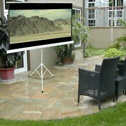 84quot; Tripod Portable Projector Projection Screen 16:9 Foldable Stand Home Theatre