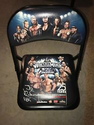 Wrestlemania 25 Autographed By Hbk Shawn Michaels Ringside Chair
