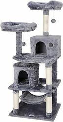 57quot; Cat Tree Condo Pet Furniture Activity Tower Play House with Perches Hammock