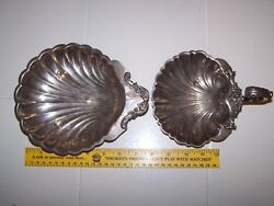 Vintage Eg Webster And Son Epns Silverplate Sea Shell Clam Dish Engraved