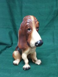 Vintage Breyer Bassett Hound Dog Husy Puppy Hard Plastic Animal Figure