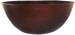 Antique Vintage Hammered Copper Arts And Crafts Weathered Bowl