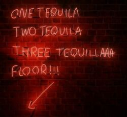 One Tequila, Two Tequila, Three Tequila, Floor Neon Art Light Sign/lamp