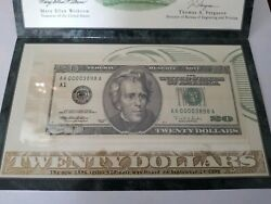AUTHENTIC UNCIRCULATED $20 NOTE I need pay my house. In God we trust. Thank you