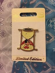 Disney Store Uk Europe Pin Badge Le150 Aladdin Jasmine Sand Timer Red Outfit