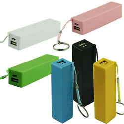 Portable Power Bank Charger 18650 External Backup Battery Charger With Key Chain