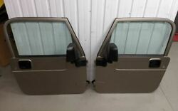 1997-2006 Wrangler Doors Pair Left Right Silver PJC NO RUST CLEAN