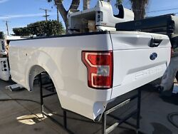 2018-19 Ford F150 8andrsquo Long Bed White Truck Bed Pickup Box