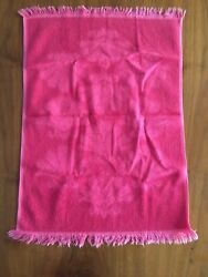 Vintage Pink Shell Hand Towel 24x16andrdquo