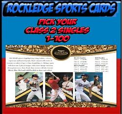 2019 Topps Gold Label Class 2 Singles 1-100 Pick Your Cards