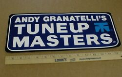 2 Vtg Andy Granatelli Stp Tune Up Shop 15 Rare Dealer Indy Racing Decal Sticker