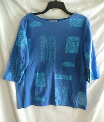 M. MAC Very Nice Quality Printed Design Tunic  - Size: S