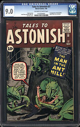 Tales to Astonish #27 CGC 9.0 VFNM Marvel 1st Ant-Man Avengers OWW Pages RARE