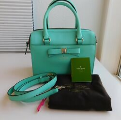 KATE SPADE SATCHEL Holly Street Ashton Giverny Blue Turquoise Teal Leather