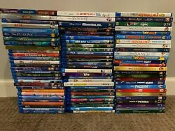 Huge Kids Disney Bluray Movie Collection 94 Total Movies Great Collection
