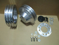 New Buick Nailhead Billet 2 +3 Groove Pulleys 264-322 1953-1954-1955 Ac